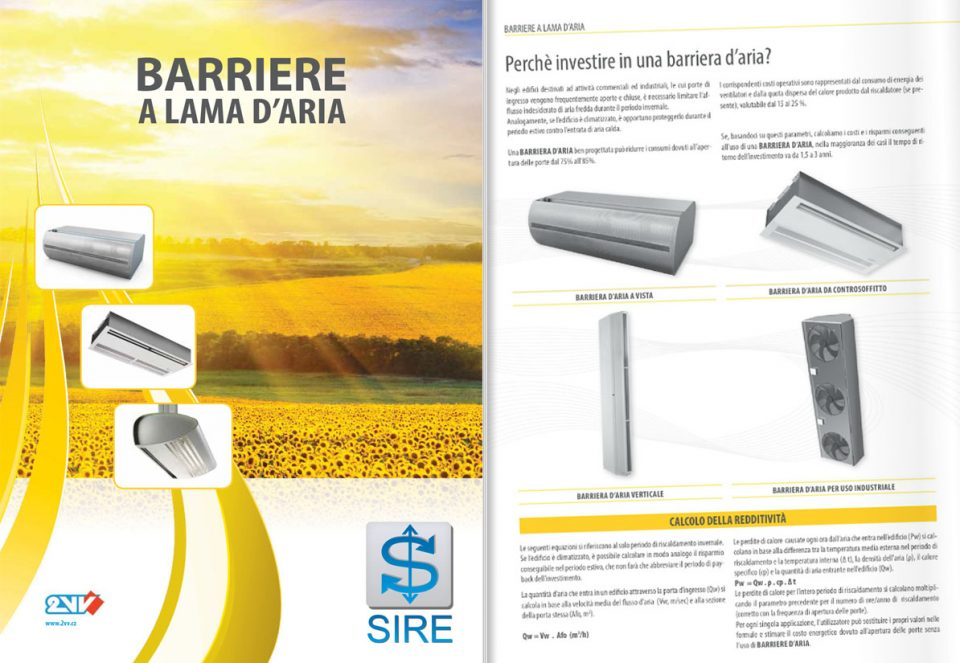 Catalogo Barriere Lama d'aria