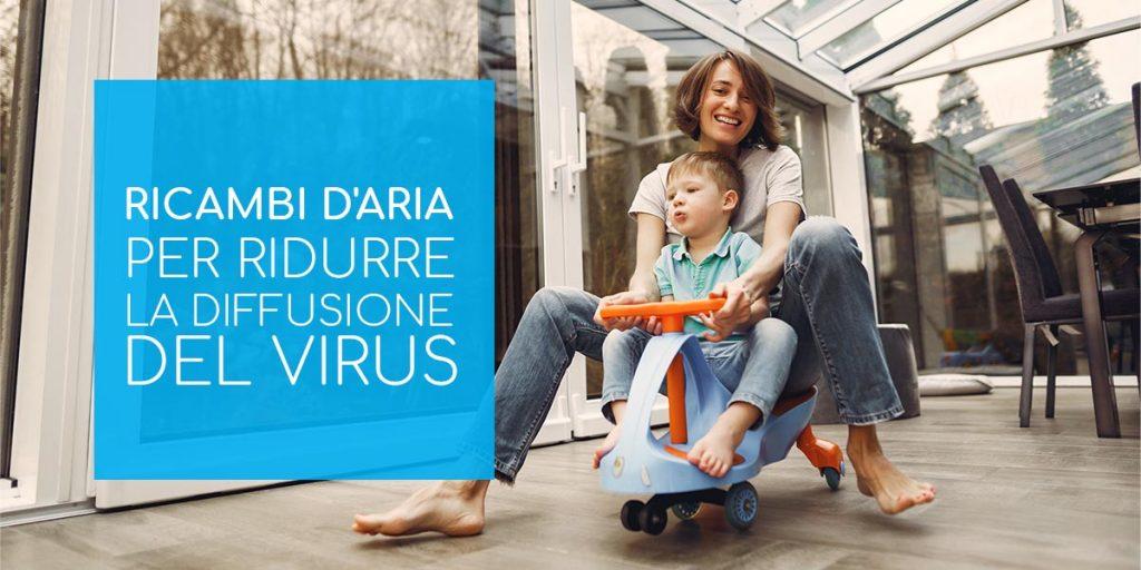 Ricambi d'aria per ridurre la diffusione del virus