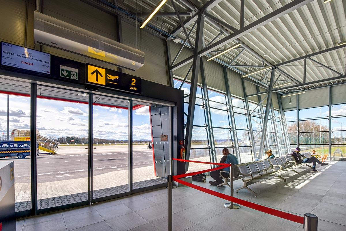 Baeriere d'aria anticovid aeroporto