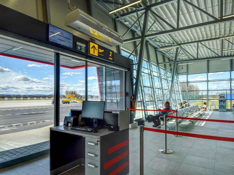 Barriera d'aria aeroporto
